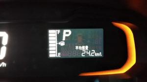 車の平均燃費の表示