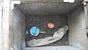 水道管の元栓の中