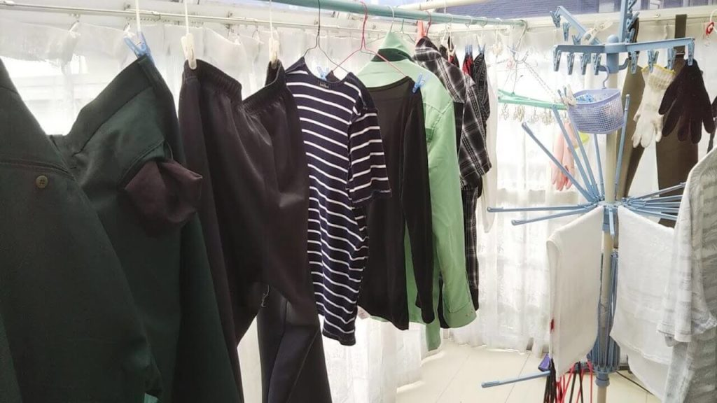 節約して購入した洗濯物を干すためのサンルーム